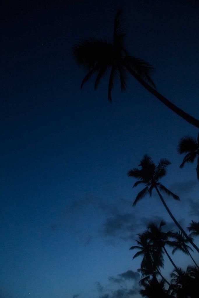 Camaïeu de bleu sur la plage