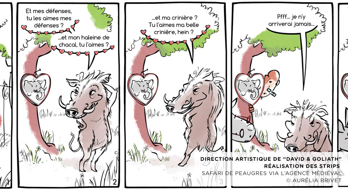 Safari de Peaugres (STRIP DE BANDE DESSINEE)