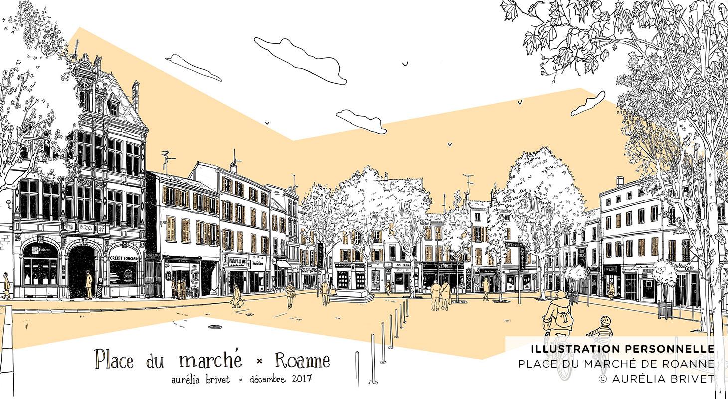 Place du marché de Roanne